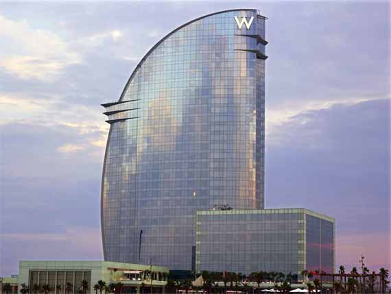 W barcelona hotel barcelona spain aeworldmap com over for Design hotel barcelona