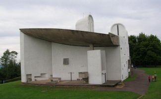 Ronchamp Chapel rear