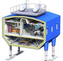 Halley-VI-Antarctic-research-station cutaway