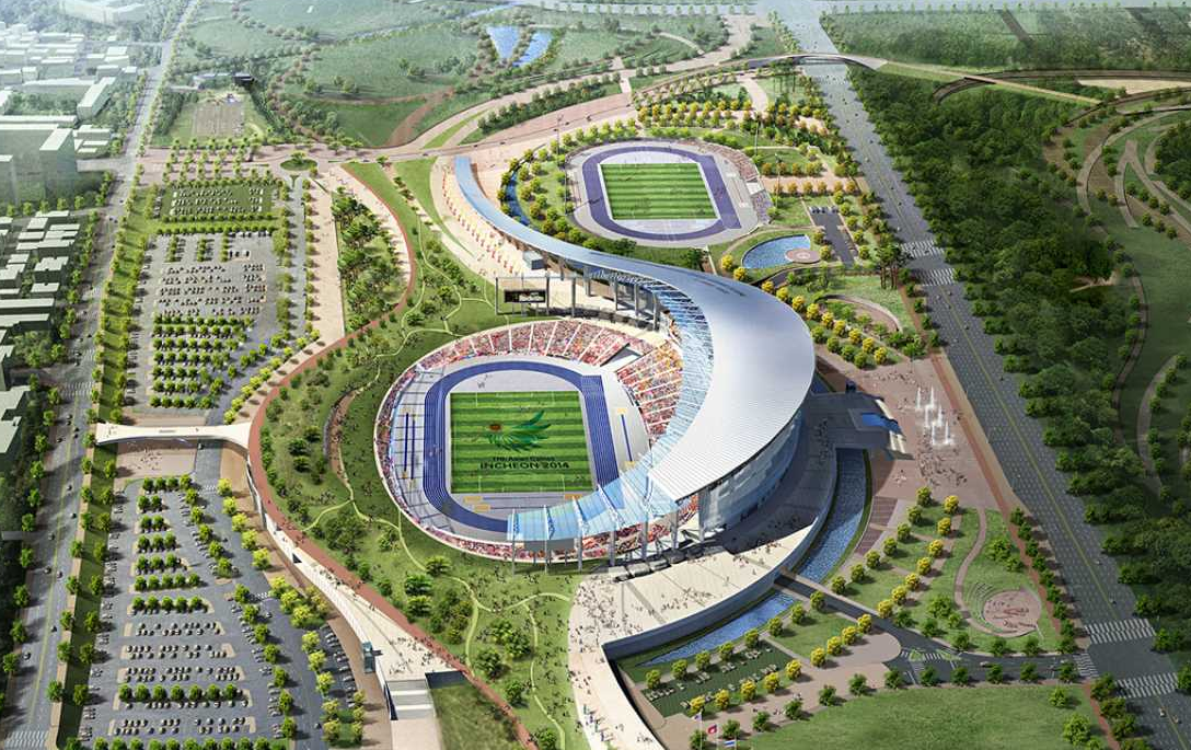 Incheon South Korea  City new picture : 2014 Incheon Asian Games Main Stadium – Incheon, South Korea ...