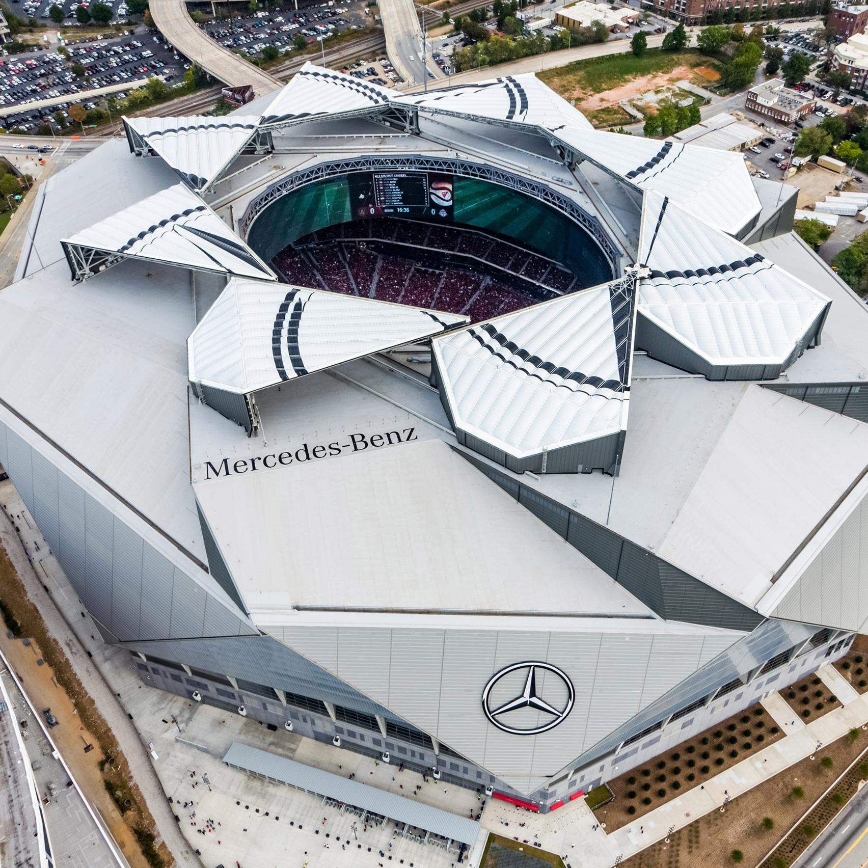 Mercedes-Benz Stadium - Atlanta, Georgia | AEWORLDMAP.COM ...