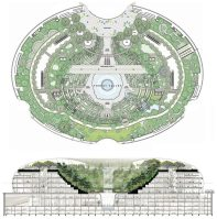 Jewel Changi Airport Plan and Elevation