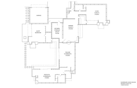 shchindler house floor plan