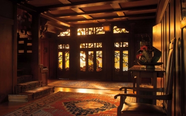 Front Door.  The Gamble House.