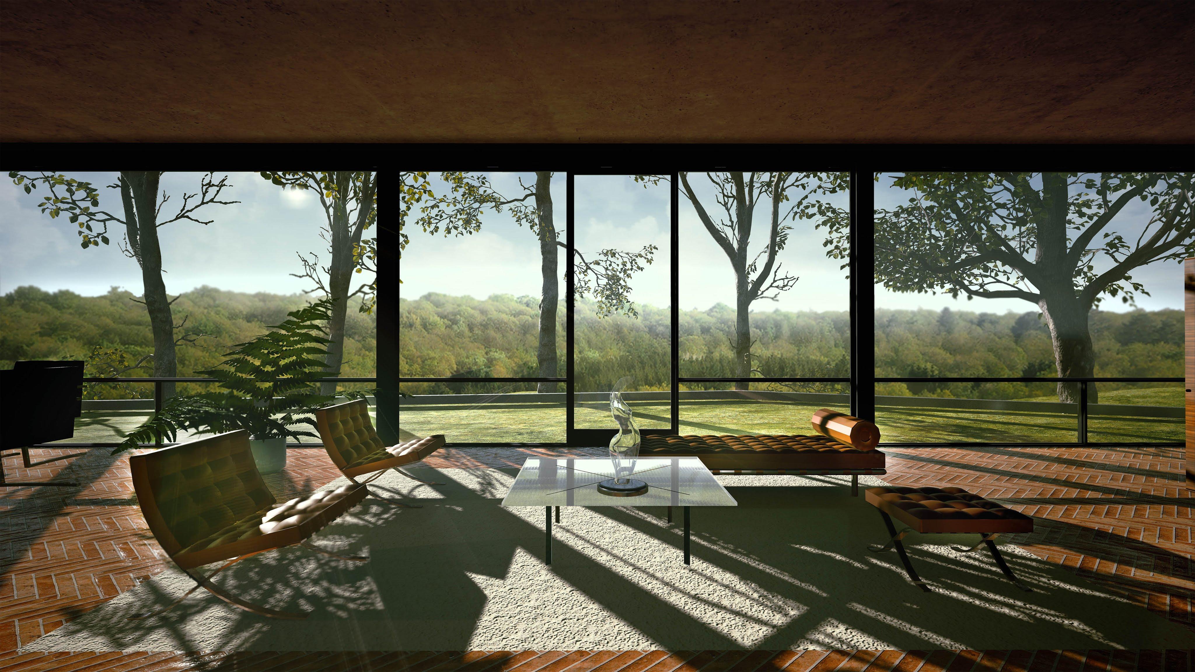 Philip Johnson Glass House the glass house – new canaan, connecticut | aeworldmap