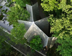 sayama-forest-chapel aerial