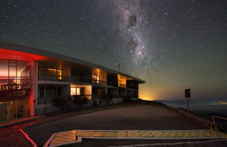 The guesthouse at the La Silla Observatory is probably not as luxurious as the Residencia at Paranal, but the view out of the window at night is at least as good.